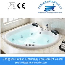 Acrylic Embedded fan-shaped bathtubs