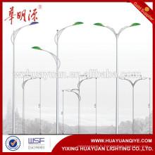 Fabricant de pôles d'acier 6m, 7m, 8m, 9m, 10m, 11m, 12m, 13m Q345 en acier à LED en plein air