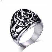 Anéis maçônicos feitos de aço inoxidável gravados de aço inoxidável