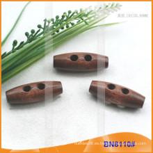 Botón de madera natural de la perilla del cuerno de la manera para las prendas BN8110