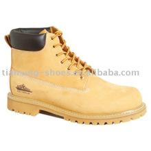 Wheat Nubuck Steel Toe Boots ( TX090)