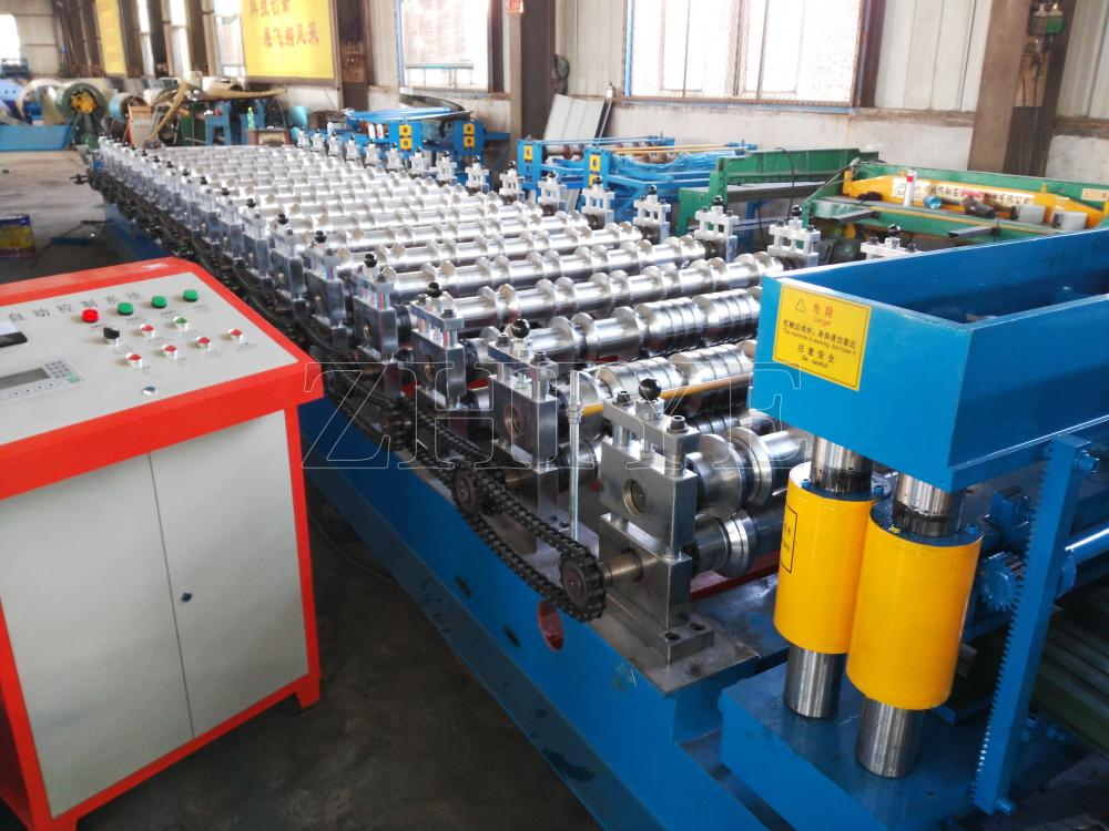 Cangzhou New Style Aluminium Glazed Tile Profile Machine