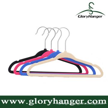 Cintre de vêtements en caoutchouc de haute qualité, antidérapant, humide et sec à double usage