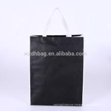 Tienda no tejida laminada promocional de la bolsa de asas de las compras del bolso de Eco para el supermercado y la publicidad