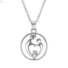 Festival Schmuck Zirkon Geschenke Ich liebe dich Mom Anhänger Halskette für Muttertag