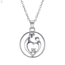 Festival Jewelry Zircon Gifts I Love You Mom Pendant Necklace For Mothers Day