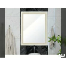 Polystyrene plastic framed wall bathroom mirror