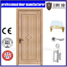 Porte simple en bois de modèle combiné conçoit des conceptions modernes de porte en bois