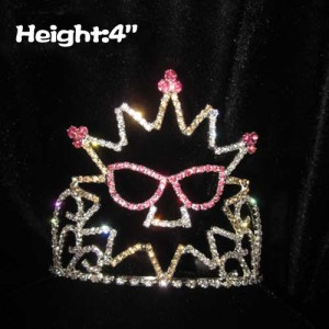Crystal Summer Pageant Crowns With Sunglass