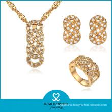 Wholesale 18k Gold Plating Silver Jewellery Set for Women (J-0068)