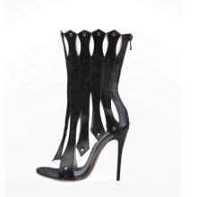 2016 Moda Salto Alto Senhoras Peep Sandals (HS17-075)