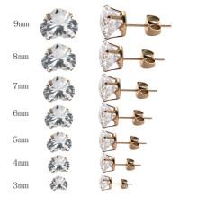 Boucles d'oreilles en forme de coeur personnalisées en acier inoxydable pour femmes