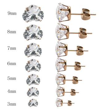 New Arrival Stainless Steel Custom Heart Shape Stud Earrings for Women