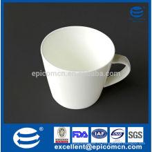 Простая прозрачная белая глина новая кость фарфоровая кружка для кофе