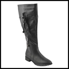 Fashion Wide Calf Flat Heel Ladies Knee High Boots (HCY02-1527)