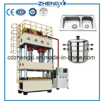 Four-Column Hydraulic Press 800 Tons Deep Drawing Metal Forming Machine
