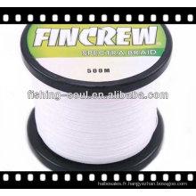 BRLN001 Lignes de pêche tressées colorées de fil