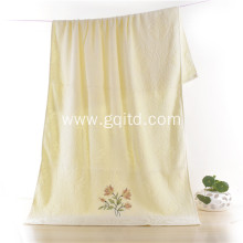 New  Cotton Jacquard Embroidery Bath Towel