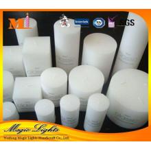 Bougie blanche d'art de ménage de pilier en gros