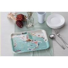 "100% Melamine Dinnerware- ""France Bear""Series Tray/100%Melamine (FB9010)"