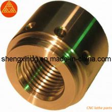 Tour CNC en laiton usinant des pièces usinées (SX178)