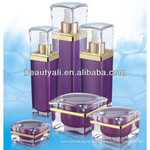 30ml 50ml botellas cosméticas plásticas cuadradas de 80ml 120ml