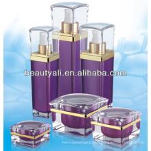 30ml 50ml 80ml garrafas cosméticas de plástico quadrado 120ml