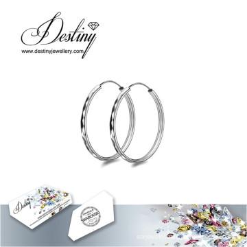 Destiny Jewellery Crystals From Swarovski Earring Brazil Big Loop Earrings