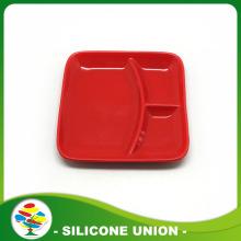 चौकोर आकार खाद्य ग्रेड सिलिकॉन डिनर प्लेट