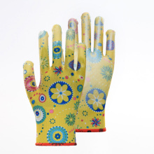 Most Popular Colorful PU Coated Safety Gloves