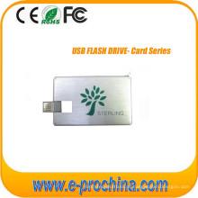 Movimentação do USB do cartão de crédito do disco do USB com logotipo feito sob encomenda