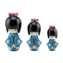 FQ marca de madera niño antiguo kokeshi tradicional japonés baby doll