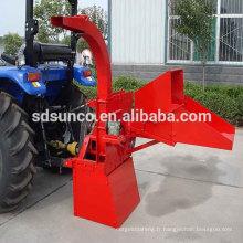 Déchiqueteuse à bois hydraulique SM04 assortie avec le tracteur