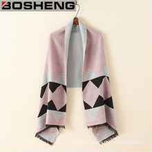 100%Polyester Womens Thick Warm Scarves Shawl