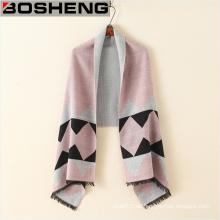 100% Polyester Womens Thick Warm Schals Schal