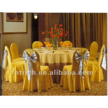 couverture de 100 % de polyester jacquard chaise, chaise damassé couvre