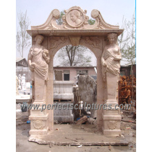 Stone Marble Arch Door Frame for Door Surround Doorway (DR006)