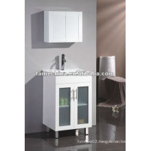 Simple Australian high white gloss paint MDF Bathroom vanity/cabinet/furniture