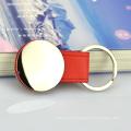 Пользовательские искусства и ремесел оптом дешево необычные пустой искусственная кожа металл keychains с логосом