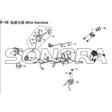 F-18 Wire Harness XS150T-8 CROX per SYM Spare Part Top Quality