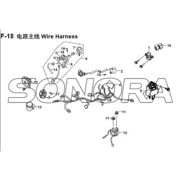 F-18 Wire Harness XS150T-8 CROX Для SYM запасных частей высшего качества