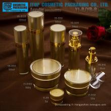 Le plus populaire et hot-vente cône rond acrylique pot de crème et lotion flacon haute qualité luxe cosmétiques contenant