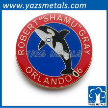 Custom animal coin badge