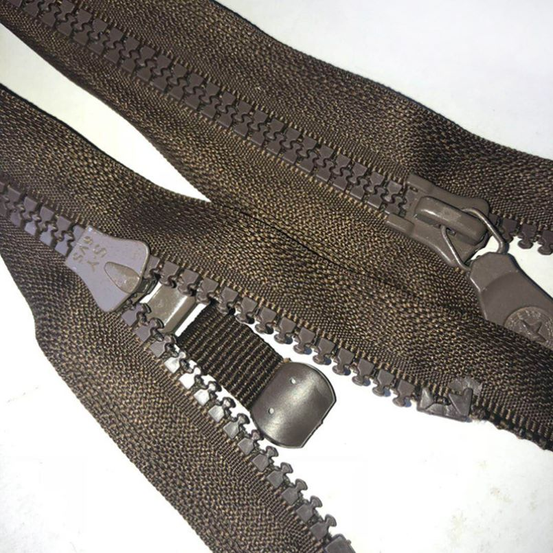 12 Inch black coat zippers
