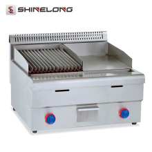 Commercial Kitchenware Stainless Steel Table Top Griddle Griddle with Lava Rock Grill Gas Griddle
