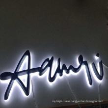 Store advertising led channel letter sign board wall company name custom led letter lights up backlit led acrylic letter logo