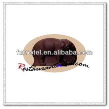 V165 PC plástico elefante forma chocolate molde