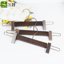 ash wooden clips pants hangers
