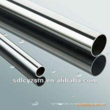 Tubo de acero con acabado cromado