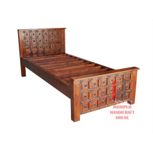 Single Carved Bed